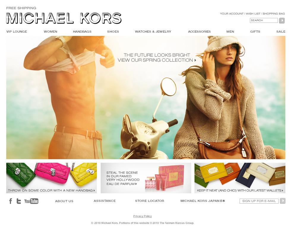 michael kors official website